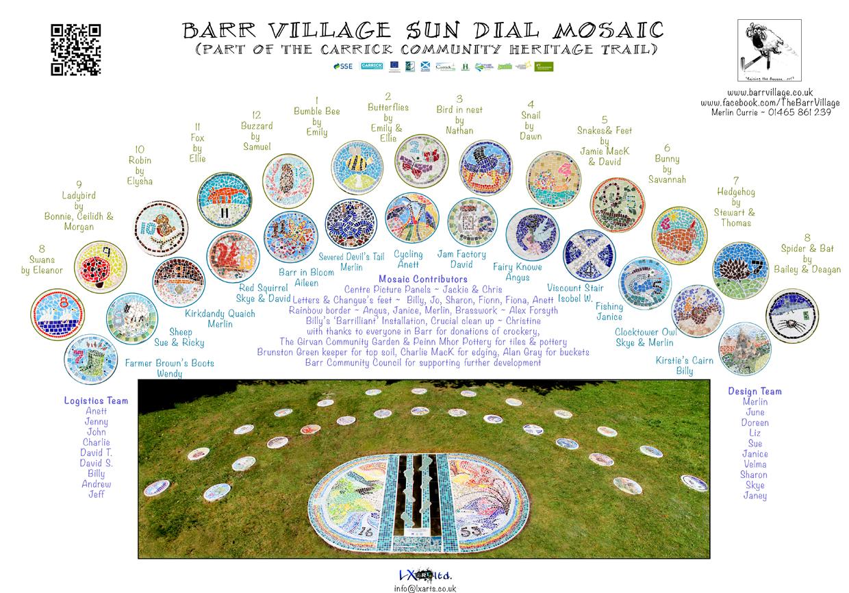 Mosaic sun dial