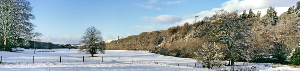 4 Snowy countryside around Barr village