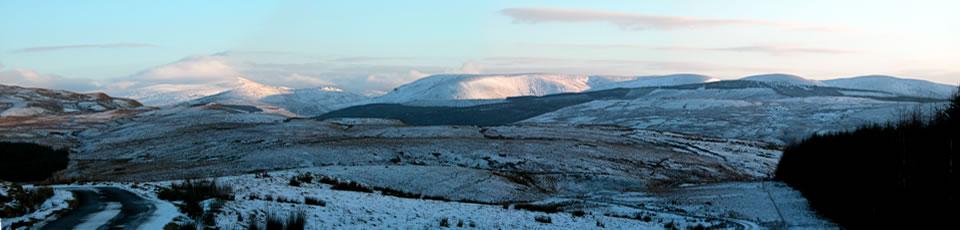 6 - snow covered hills around Barr village